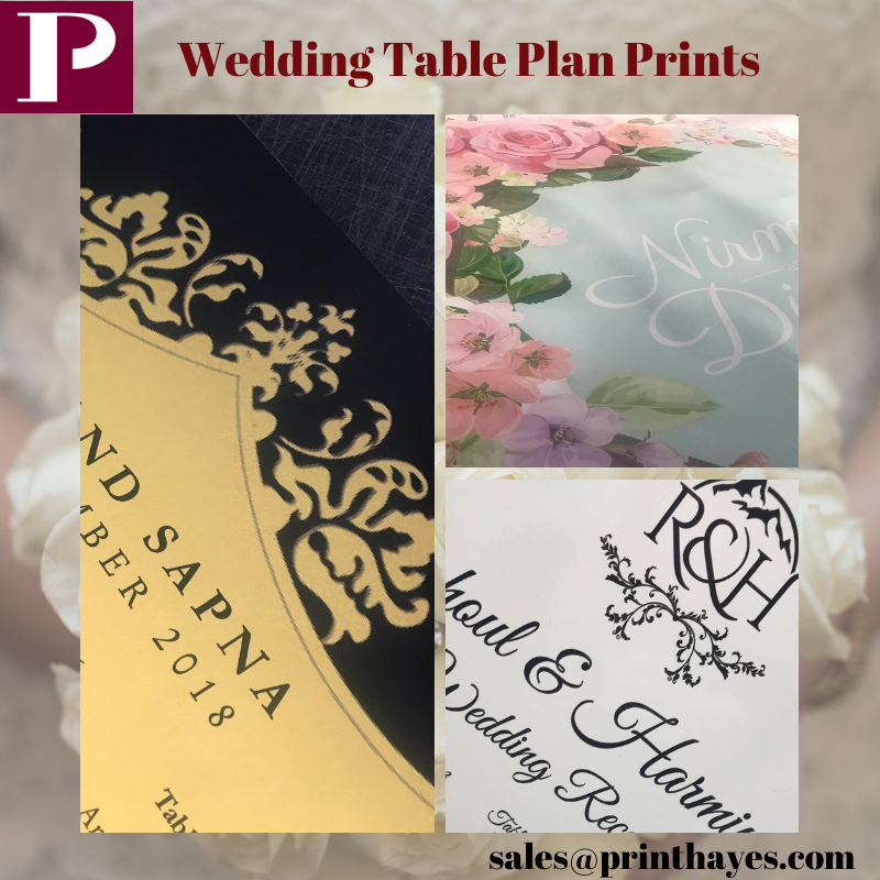 Wedding table plans Hayes